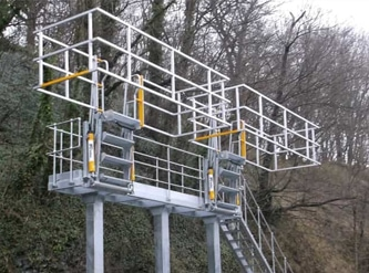 Tanker Access and Fall Prevention Cages