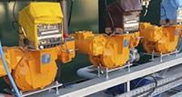 Mechanical Loading Skid close up meters