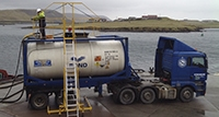 Top tanker loading mobile access